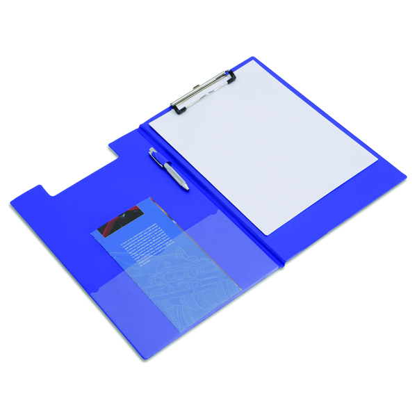 Image for Rapesco Blue Foldover Clipboard A4/Foolscap VFDCB0L3