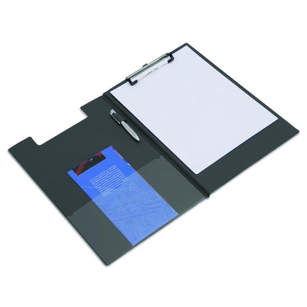 Rapesco Foldover Clipboard A4/Foolscap Black VFDCB0L3