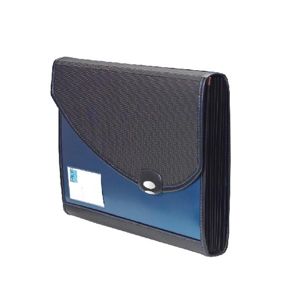 Rapesco Blue Designer A4+ Expanding File 7-Part Polypropylene 0679