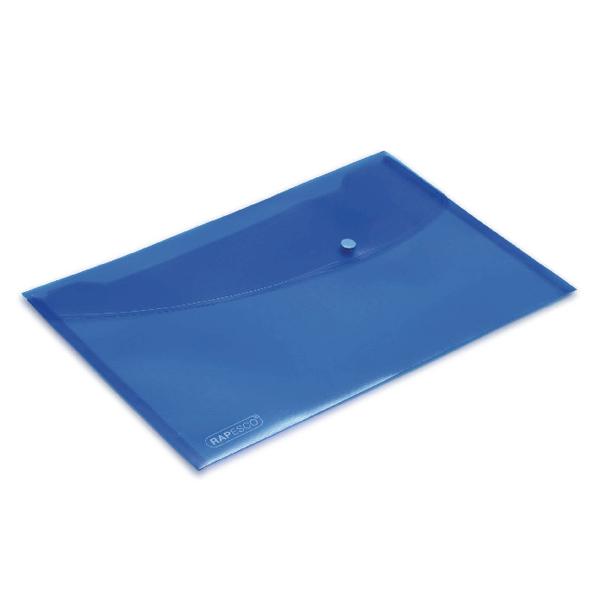 Rapesco Foolscap Blue Popper Wallet (Pack of 5) 0693