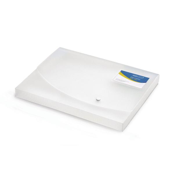 Rapesco A4 Rigid Wallet Box File 25mm Clear 0708