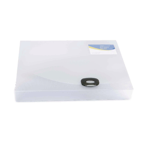 Image for Rapesco A4 Rigid Wallet Box File 40mm Clear 0711
