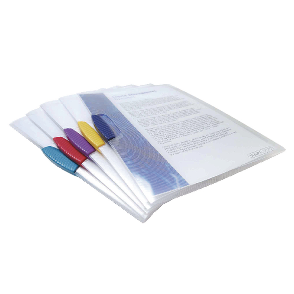 Rapesco A4 Assorted Pivot Clip Files Pack of 5 0786