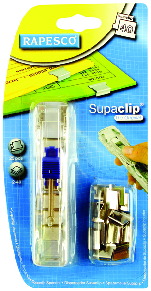 Rapesco Supaclip 40 Dispenser Stainless Steel RC4025SS