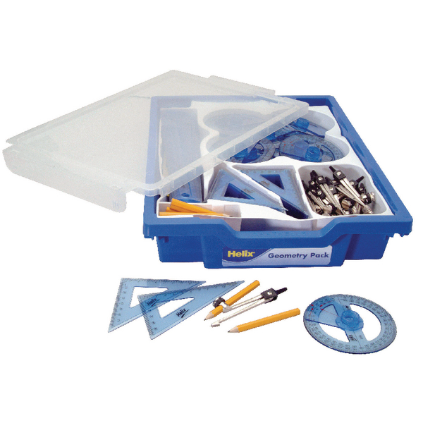 Helix Gratnells Blue School Geometry Class Pack Q99040