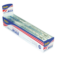 Helix Blue Shatterproof Rulers 30cm/12in (Pack of 50) L16025