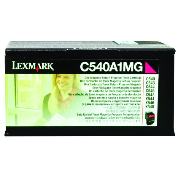 Lexmark Magenta C540 Laser Toner Cartridge C540A1MG