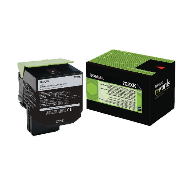 Lexmark 702XK Black Toner Cartridge Extra High Yield 70C2XK0