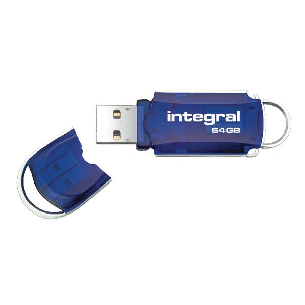 Integral Courier 64GB Flash Drive USB 2.0 INFD64GBCOU