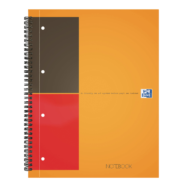 Oxford International A4 Plus Wirebound Hardback Notebook 100104036