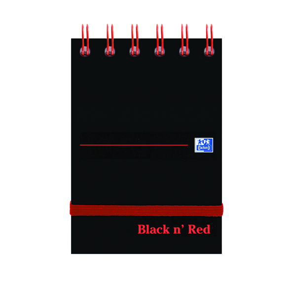 Black n Red A7 Wirebound Notebook 140 Pages Pack of 5 400050435