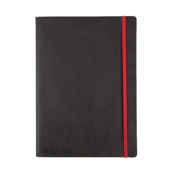 Black n Red Soft B5 Notebook Black