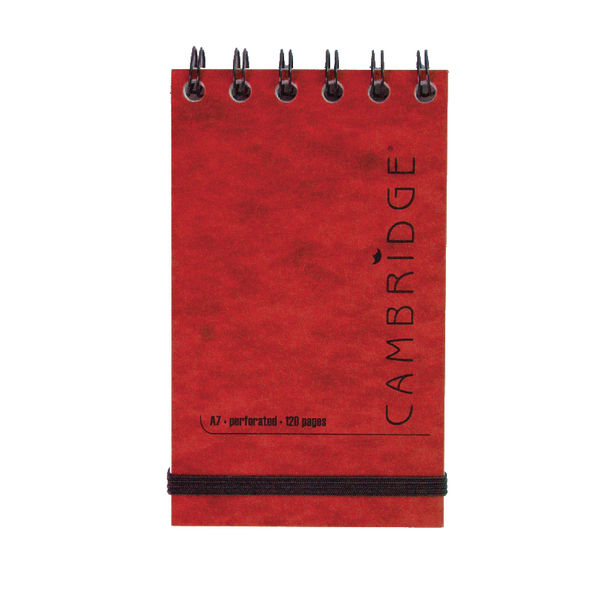 Cambridge Elasticated Red Notebook 76 x 127mm Pack of 10 100080421