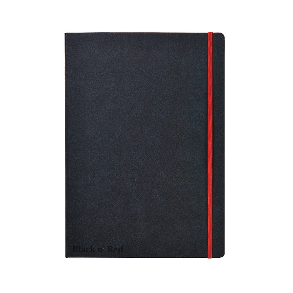 Image for Black n Red A4 Black Casebound Hardback Notebook 400038675