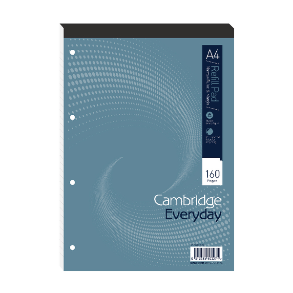 Cambridge Everyday A4 Refill Pad Narrow Ruled Margin Pack of 5 100080168