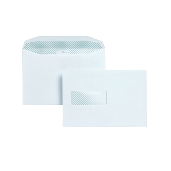 Image for Postmaster Envelope 162x238mm High Window 90gsm Gummed White (Pack of 500) A29984