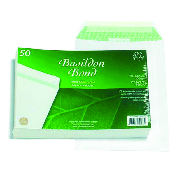 Basildon Bond C5 Envelope 120gsm Peel and Seal White (50 Pack) B80277
