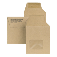 New Guardian Wage Envelope 121x98mm Window Unprinted 80gm Manilla Self Seal (Pack of 1000) C20719
