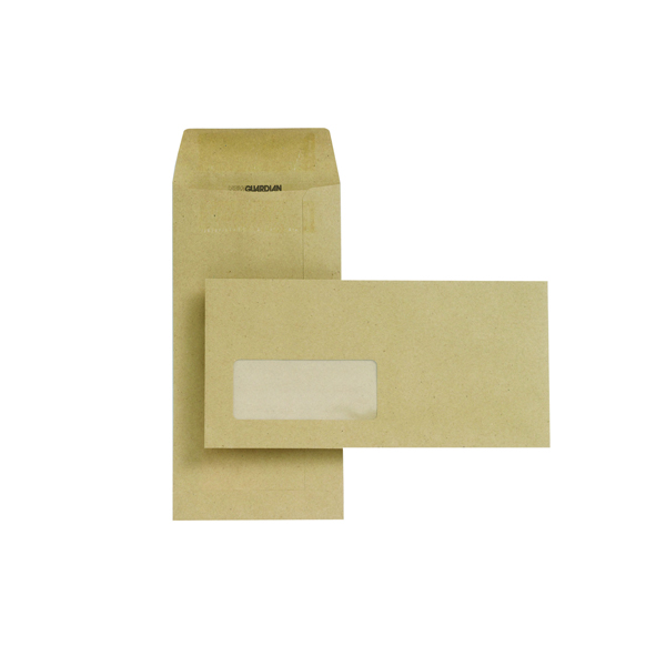 New Guardian DL Envelope 80gsm Pocket Self Seal Window Manilla (1000 Pack) D25311