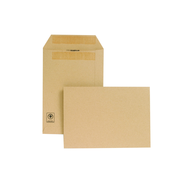 N/Gdn Manilla C5 S/Seal Envelopes Pk250