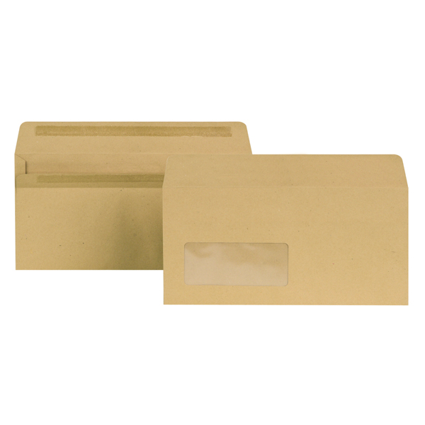 New Guardian DL Window Envelope 80gsm Self Seal Manilla (1000 Pack) E22211