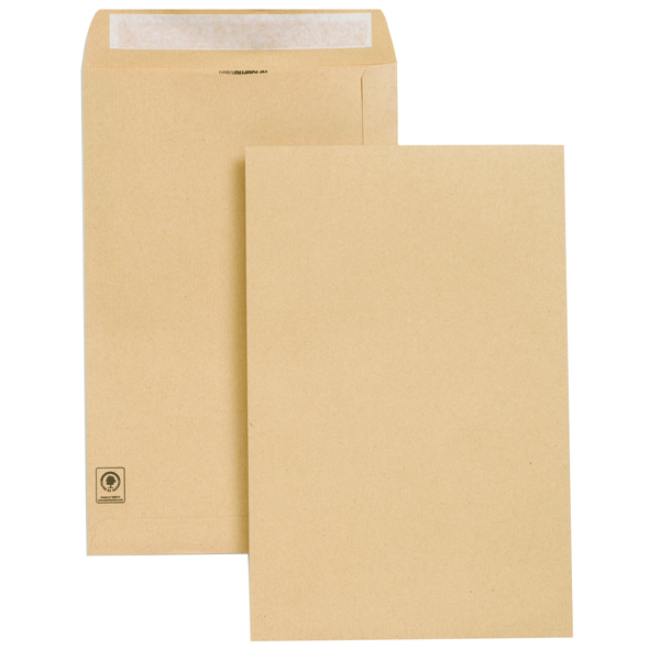 New Guardian Envelope 353x229mm 130gsm Peel and Seal Easy Open Manilla (Pack of 250) E27303