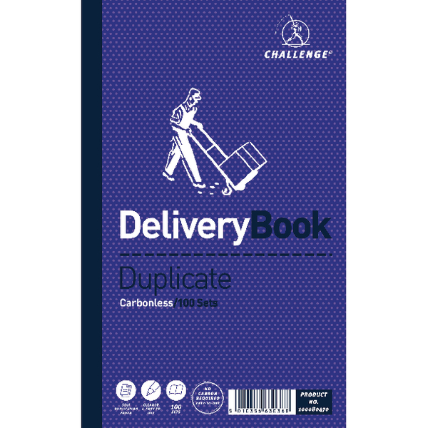 Challenge Duplicate Delivery Book Carbonless 100 Sets 210 x 130mm (Pack of 5) 100080470