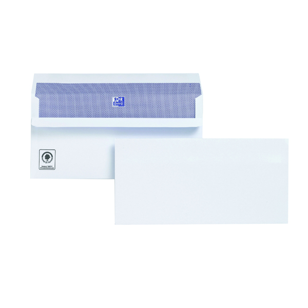 Plus Fabric DL Envelopes 110gsm Self Seal White (Pack of 500) H25470