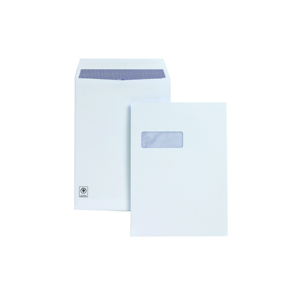 Plus Fabric C4 Window Envelopes Self Seal 120gsm White (Pack of 250) H27070