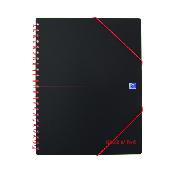 Black n Red A4 Plus Wirebound Polypropylene Meeting Book 160 Pages (Pack of 5) 100104323