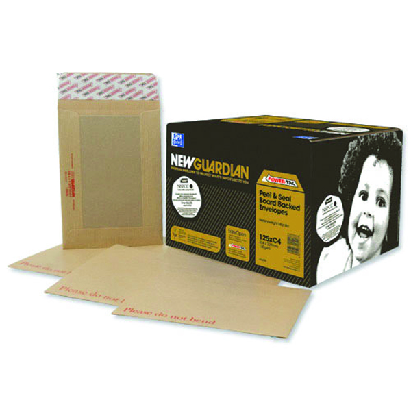Image for New Guardian Board Back C3 Envelope 130gsm Manilla Peel and Seal (Pack of 50) K27926