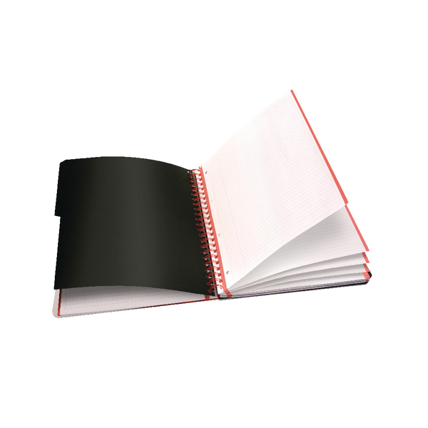 Black n Red A4 Plus Hardback Wirebound Project Book 200 Pages Pack of 3 100080730