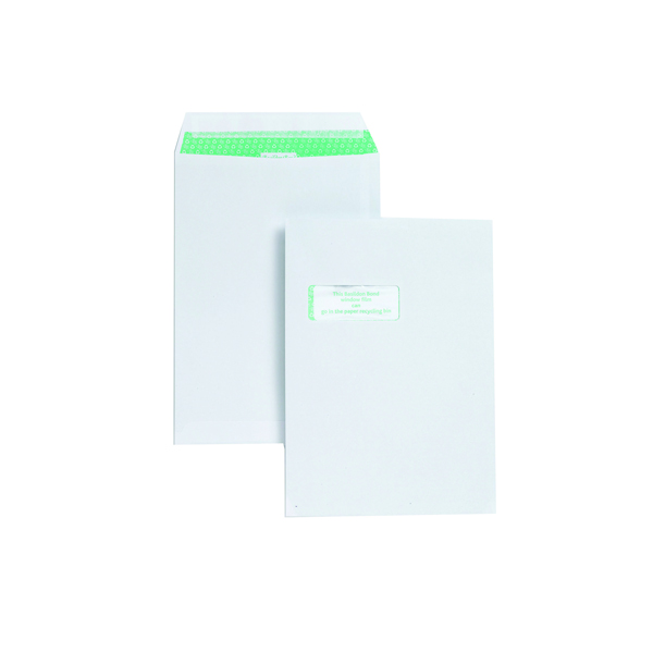 Basildon Bond C4 Window Envelopes 120gsm Peel and Seal White K80121 Garden Voucher Prize Draw