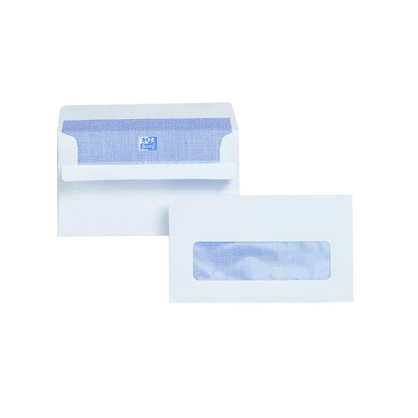 Image for Plus Fabric Envelope 89x152mm Window 110gsm Self Seal White (Pack of 500) L22070