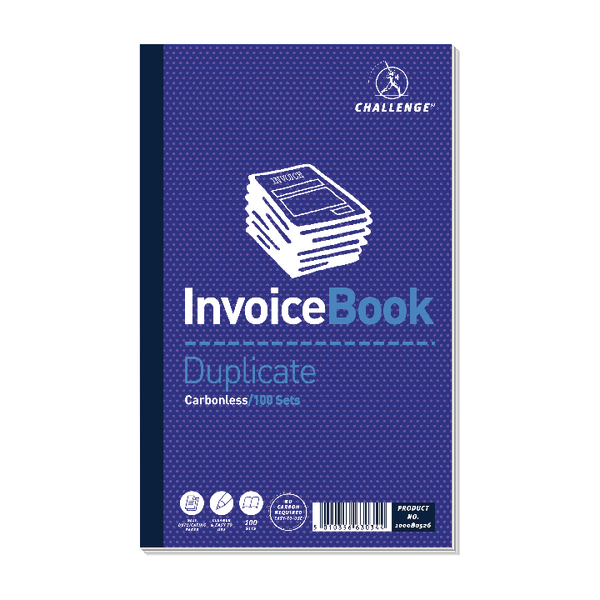 Image for Challenge Carbonless Duplicate Book 210x130mm Invoice 100080526