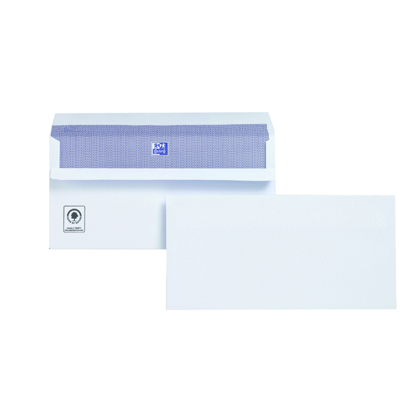 Plus Fabric DL Envelope 110gsm Wallet Self Seal White (250 Pack) M23270