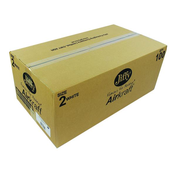 Jiffy 205x245mm White AirKraft Bag (100 Pack) JL-2