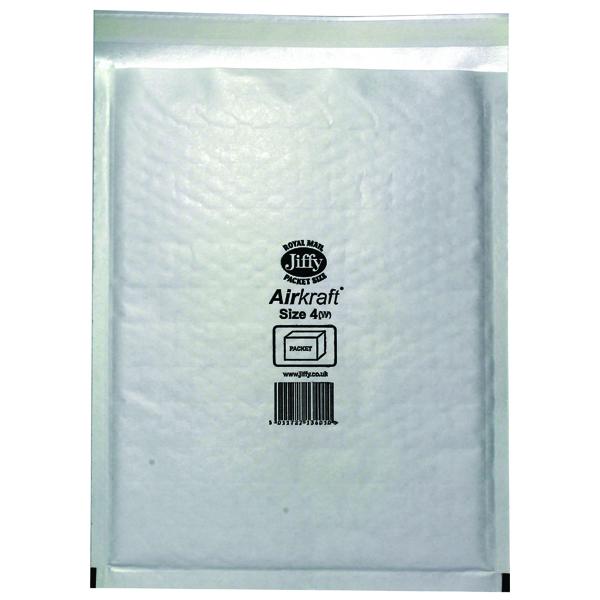 Jiffy AirKraft Bag 240x320mm White (Pack of 50) JL-4