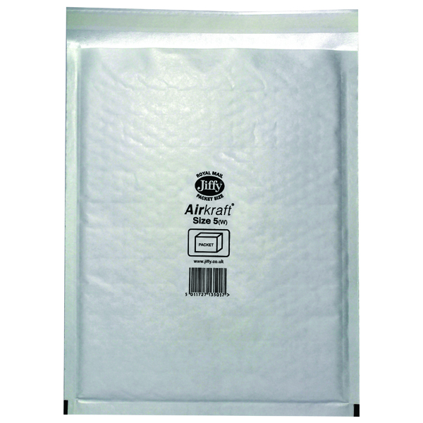 Jiffy AirKraft Bag 260x345mm White (Pack of 50) JL-5