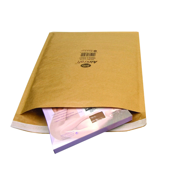 Jiffy Size 1 Gold 170x245mm AirKraft Bag (Pack of 100) JL-GO-1