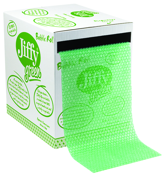 Jiffy 300mmx50m Green Bubble Box Roll 43010