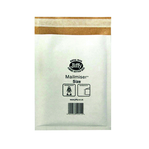 Jiffy Mailmiser Size 7 340x445mm White (Pack of 50) Jmm-WH-7