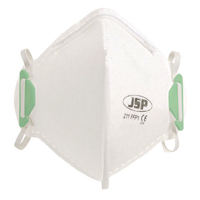 JSP FFP1 Fold Flat Disposable Vertical Non Valved Face Mask 211 (Pack of 20) BEA110-101-000