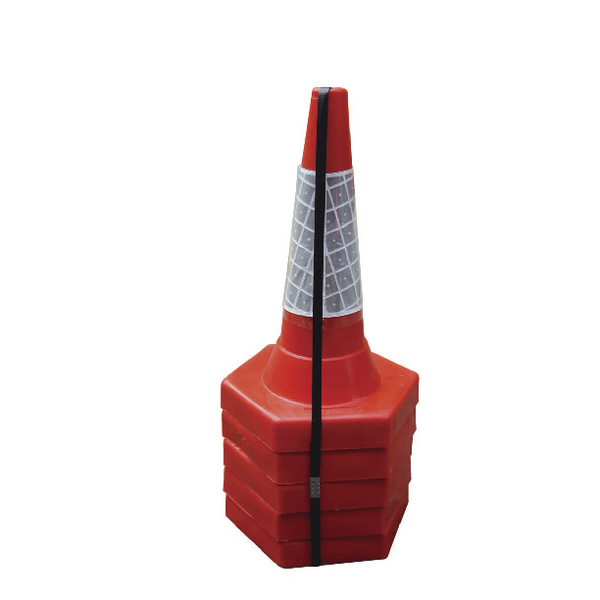 JSP Red 50cm Sand Weighted Cone (Pack of 5) JAA049-220-615