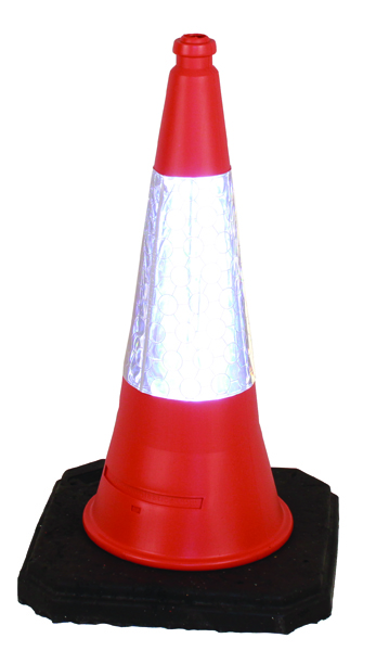 JSP Red Weighted Traffic Cone With Reflective Sleeve 1000mm JAA060220654