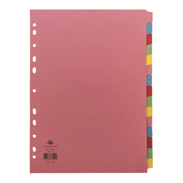 Concord Pastel A4 15-Part Subject Divider 71599/J15