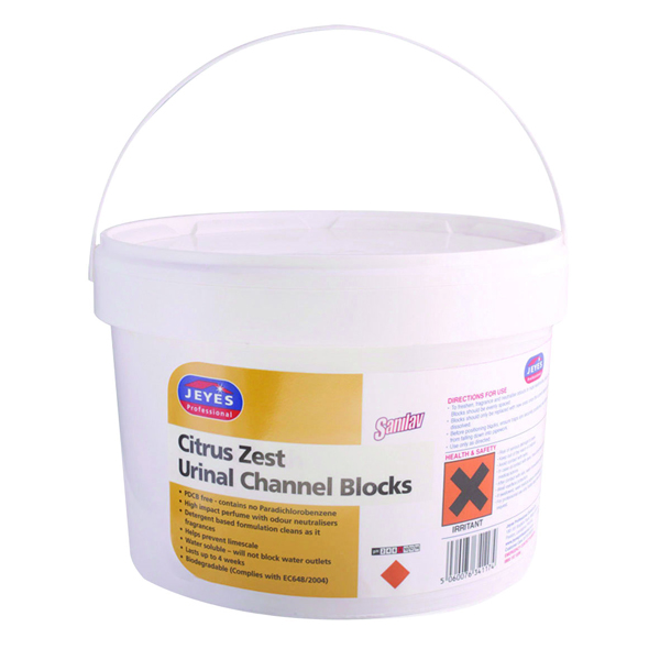 Jeyes Sanilav Urinal Channel Blocks Citrus 3kg 541015