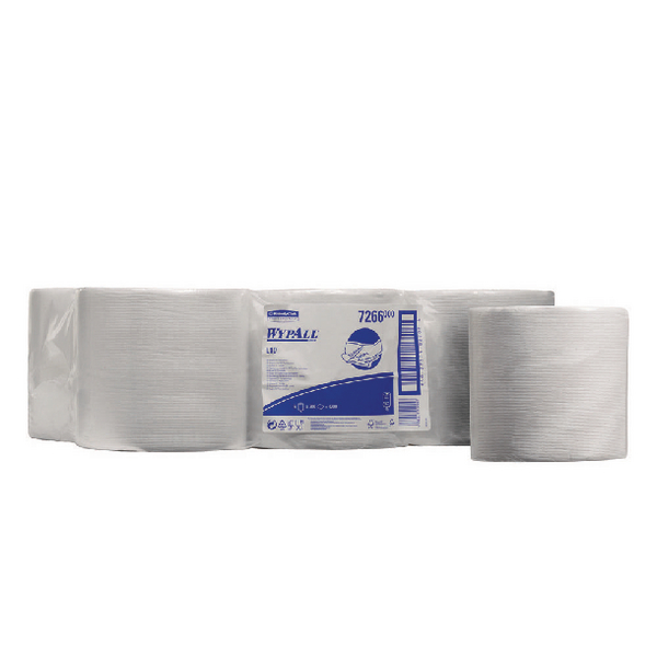 Wypall Wipers 1-PlyCentrefeed Roll White (Pack of 6) 7266