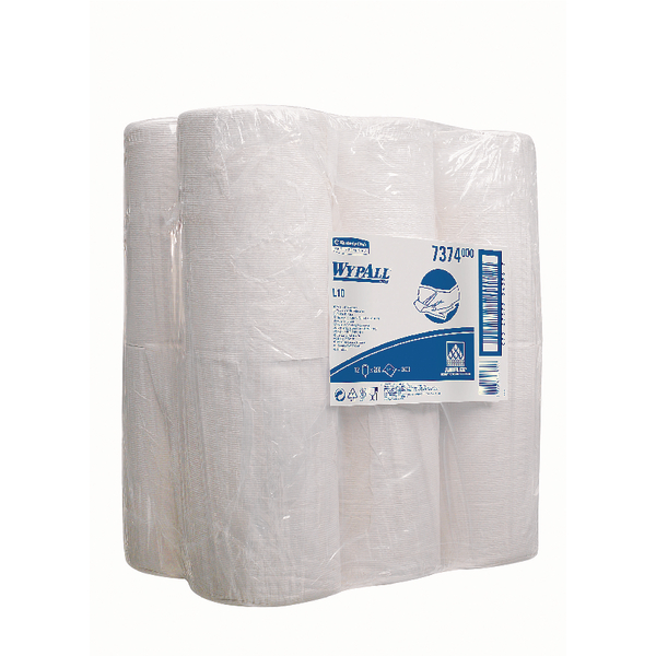 Wypall L10 Wipers MiniCentrefeed White Roll 1 Ply (Pack of 12) 7374