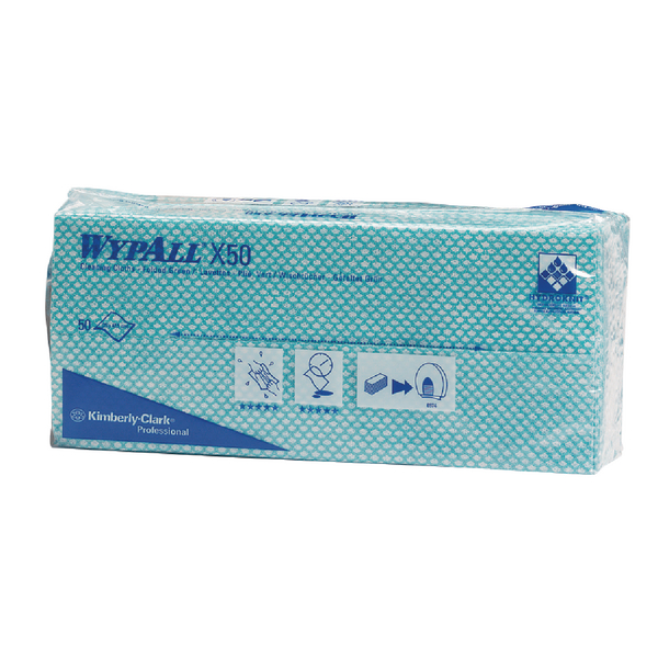 Wypall Green X50 Cleaning Cloths (Pack of 50) 7442